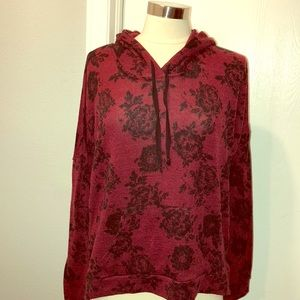 Gorgeous maroon and black light hoodie size L